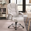 Office Chairs White Leatherette Office Chair