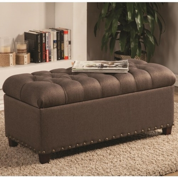 Ottomans Tufted Storage Bench 500065