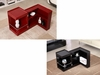 P205B Black Gloss End Table/Mini Bar