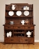 Padima Rustic Rough-Sawn Buffet and Hutch with Metal Bracket Hardware and Wine Storage