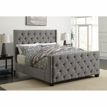 Palma Upholstered Queen Bed with Button Tufting
