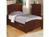 Parker Casual Twin Panel Bed with Underbed Storage