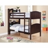 Parker Twin Bookcase Bunk Bed with Built-In Ladder