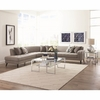 Pearshall Contemporary Curving Sectional with Button Tufting