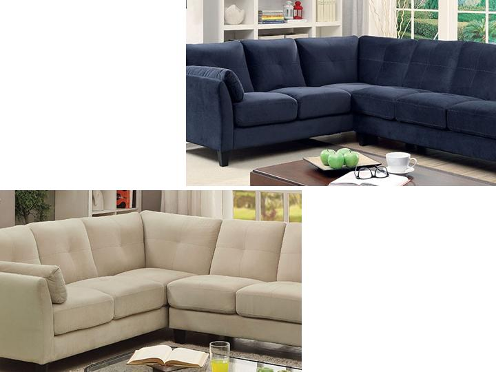Contemporary Sectional Corner Sofas Furniture Of America