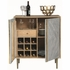 Pennington Contemporary Wine Cabinet with Brass Inlay by Donny Osmond Home
