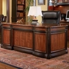 Pergola Double Pedestal Desk with Felt Lined Drawers