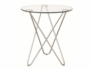 Petite Accent Table w/ Glass Top