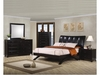 Phoenix Contemporary 5 PC Faux Leather Queen Bedroom Set