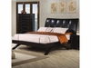 Phoenix Contemporary Faux Leather Queen Upholstered Arc Bed