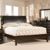 Phoenix Contemporary Queen Platform Bed with Vinyl Panel Headboard