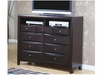 Phoenix Contemporary TV Dresser with 9 Drawers and 2 Media Compartments