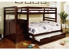 Pine Ridge Twin/Full Bunk bed with stair case with optimal Trundle