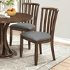 Prescott Slat Back Dining Chair with Gray Fabric Upholstery