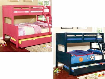 Prismo II Twin/Full bunk bed with trundle bed