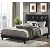 Queen Granados Upholstered Bed with Black Leatherette
