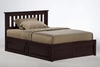 Queen size Rosa Mission platform bed with Two storage drawers