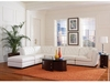 Quinn White Sectional 2 Corners, 3 Armless chairs and ottoman