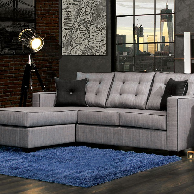 Contemporary Sectional Tufted Cushion On Sale Living Room Arlington Va Furniture Stores