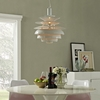 "REBOUND 17"" STAINLESS STEEL CHANDELIER IN WHITE"