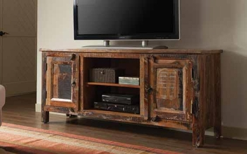 2-Door TV Console Reclaimed Wood # 700303