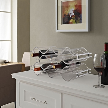RESERVE WINE RACK IN CLEAR