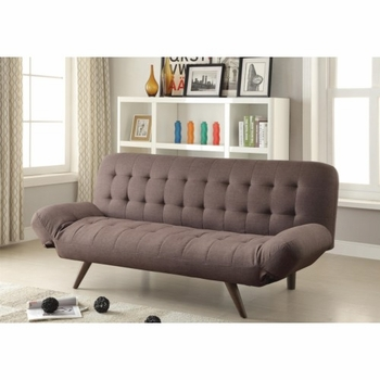 Retro Modern Sofa Bed with Tufting & Cone Legs 500041