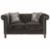 Reventlow Loveseat with Greek Key Nailhead Trim Design
