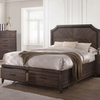 Richmond King Platform Bed with Storage Footboard