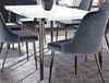 Riverbank Modern Dining Table with Glossy Top by Scott Living