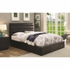 Riverbend King Black Leatherette Upholstered Bed with Lift Top Storage