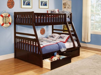 Rowe Twin/Full Bunk bed with Storage