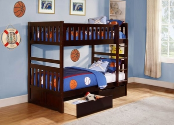 Rowe Twin/Twin Bunk bed with storage