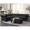 Roy Button-Tufted Sectional Sofa with Armless Chair