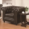 Roy Traditional Button-Tufted Chair with Rolled Arms and Back