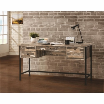Rustic Style Writing Desk with Drawers
