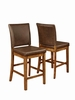 Salerno Rustic Solid Wood Counter Height Dining Chair