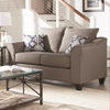 Made in USA Salizar Grey Loveseat with Flared Arms