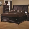Sandy Beach King Sleigh Bed with Footboard Storage