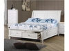 Sandy Beach Twin Sleigh Bed with Footboard Storage