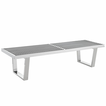 SAUNA 246 STAINLESS STEEL BENCH IN SILVER