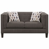 Sawyer Modern Loveseat with Track Arms by Scott Living