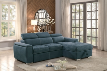 Sectional with pull-out bed # 8228