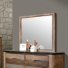 Sembene Mirror with Rustic Wood Frame