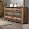 Sembene Rustic Dresser with Six Drawers
