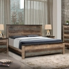 Sembene Rustic King Bed with Nailhead Accents