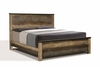 Sembene Rustic Queen Bed with Nailhead Accents