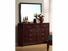 Serenity Style 201973 Dresser with Cut-Out Headboard Design