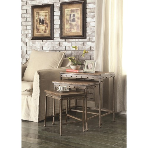 Contemporary Accent Table Nesting Table Living Room 901373 Manassas Va On Sale Bedroom Furniture