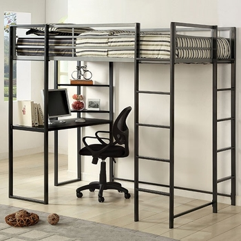 Sherman full loft bunk bed without chair BK1098